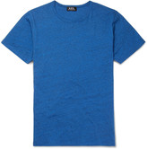 A.p.c. - Slim-fit Mélange Cotton-jersey T-shirt