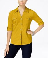 Style&Co. Style & Co Petite Jersey Utility Shirt, Only at Macy's