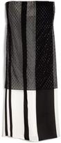 Narciso Rodriguez Preorder Bonded Silk Stripes Strapless Dress
