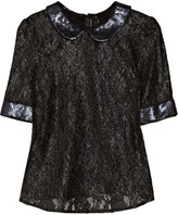 Walter W118 by Baker Britt sequined metallic-lace top
