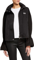 Burberry Neston Flare-Cuff Zip-Front Jacket