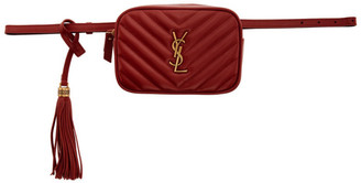 Saint Laurent Red Lou Belt Bag