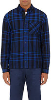Aztech Mountain Men's Sopris Wool Flannel Shirt Jacket-BLUE, BLACK