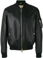 Burberry leather bomber jacket - men - Lamb Skin/Polyester/Polyamide/Cotton - L