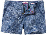 Fat Face Girls' Elephant Print Chino Shorts, Blue