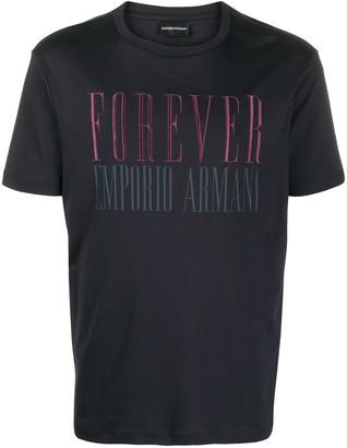 Emporio Armani Forever print T-shirt