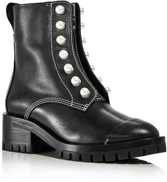 3.1 Phillip Lim Women's Hayett Pearl Zip-Up Boots