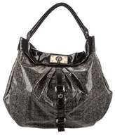 Marc by Marc Jacobs Pleated Monogram Vinyl Hobo