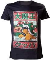 Nintendo Super Mario Men's Bowser Kanji T-shirt