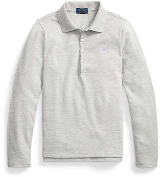 Ralph Lauren Stretch Mesh Long-Sleeve Polo
