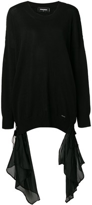 DSQUARED2 Draped Detail Sweater
