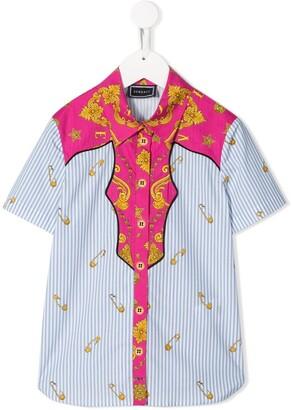Versace Safety Pin Print Shirt