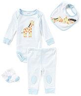 Starting Out Baby Boys Newborn-9 Months Striped Giraffe-Applique 4-Piece Layette Set