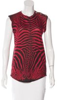Balmain Printed Sleeveless T-Shirt