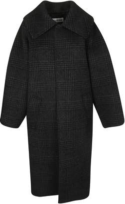 Balenciaga Check Oversized Coat