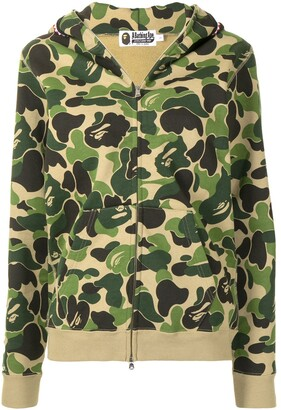 A Bathing Ape Camouflage-Print Zipped Hoodie