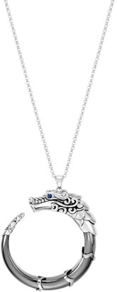 John Hardy Legends Naga Silver Pendant Necklace