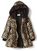 Lands' End Little Girls Aline Down Coat-Tan Leopard