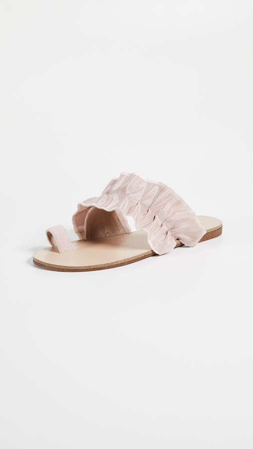 Jaggar Gathered Ruched Sandals