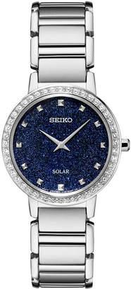 Seiko Women Solar Stainless Steel Bracelet Watch 30.3mm