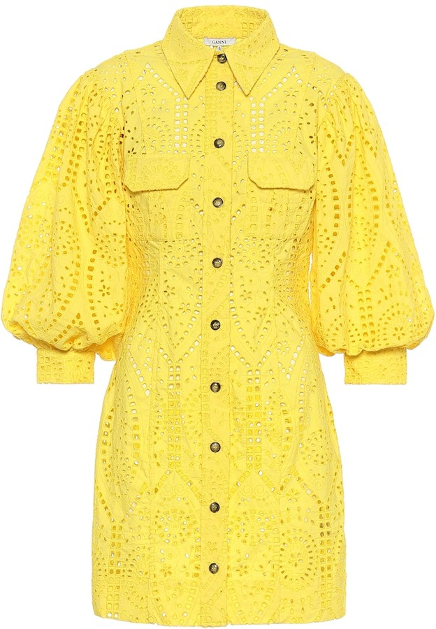 Ganni Exclusive to Mytheresa Cotton broderie anglaise minidress