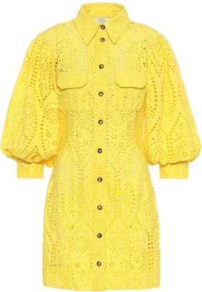 Ganni Exclusive to Mytheresa Cotton broderie anglaise minidress