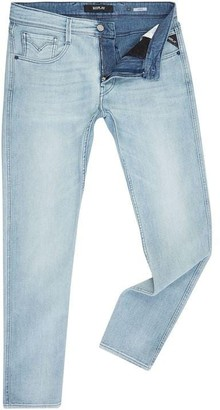 Replay Anbass Blue Stretch Slim Fit Jeans