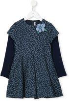 Loredana - flower corsage patterned dress - kids - Cotton/Acrylic/Polyamide/other fibers - 2 yrs