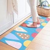 BEVERLY MEMORY Cute Cartoon Blue Green Carpet Ice cream Design Door Mats High Quality Flannel Modern Area Rugs Soft Comfortable Doormat & Rugs