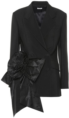 Miu Miu Embellished mohair and wool blazer