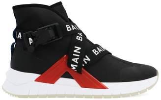 Balmain B-Troop Logo Strap High Top Sneakers