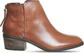 Office Library zipped leather boots