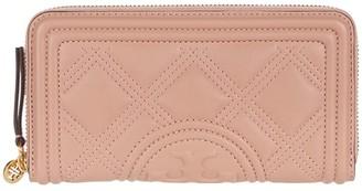 Tory Burch Fleming Soft Zip Continental Wallet (Black) Bags