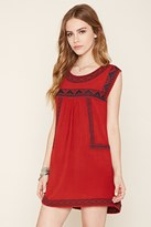 Forever 21 Tribal-Inspired Peasant Dress