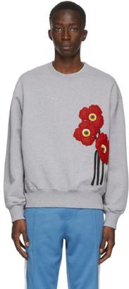 Ami Alexandre Mattiussi Grey Coquelicots Sweatshirt