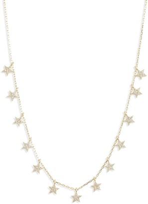 Adina's Jewels Pave Star Station Choker Necklace
