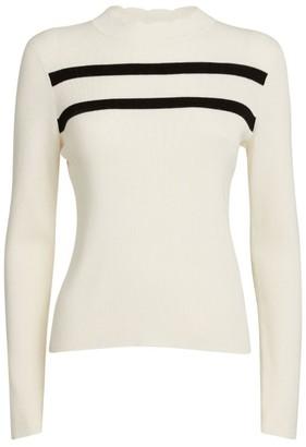 Claudie Pierlot Cotton-Blend Striped Sweater