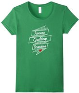 Women's Awesome Quilting Grandma T-shirt Quilter Gift Tee Medium