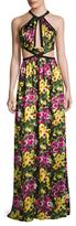 Jay Godfrey Bailey Cut-Out Shirred Maxi Dress