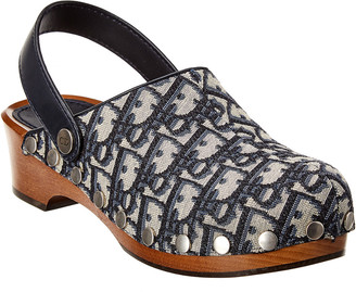 Christian Dior Diorquake Slingback Leather Clog