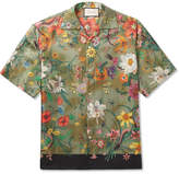 Gucci Camp-Collar Printed Silk-Twill Shirt