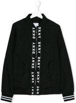 DKNY logo print shirt jacket - kids - Polyester - 16 yrs