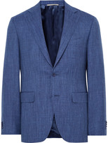 Canali - Blue Travel Slim-fit Wool, Silk And Linen-blend Suit Jacket