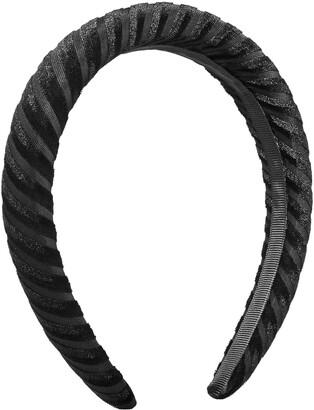 Kitsch Padded Velvet Stripe Headband