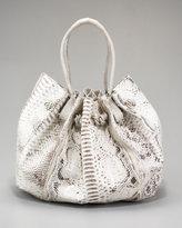 Nancy Gonzalez Gathered Python Shoulder Bag