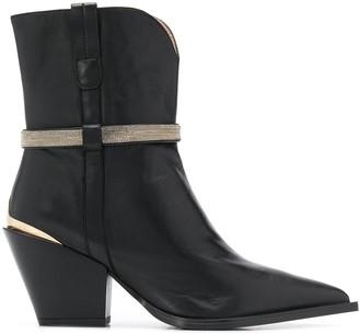 Steffen Schraut Pointed Western-Style Ankle Boots