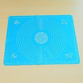 Spritech(TM) Durable Supple Silicone Healthy Mat Baking Mat Baking Tools Blue