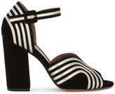 Tabitha Simmons Alexis wave ankle strap sandals - women - Leather/Suede - 36