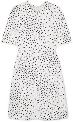 Stella McCartney Laurieton Polka-dot Stretch-cady Mini Dress
