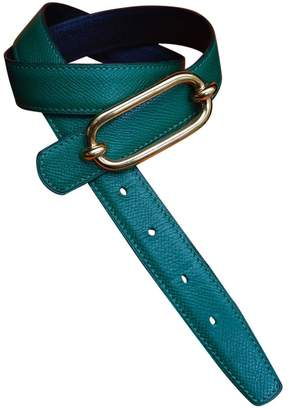 Hermes Green Leather Belts